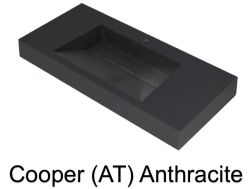Wash Basins width 200 cm resin Cooper anthracite