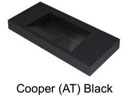 Wash Basins width 200 cm resin Cooper black