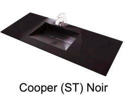temp => Wash Basins width 70 cm resin Cooper black