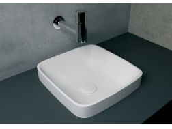 Washbasin 40x40 cm resin Solid Surface, White ENEA.