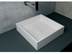 Washbasin 40x40 cm resin Solid Surface, White NICEA.