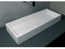 Washbasin 30x75 cm resin Solid Surface, White RODAS.