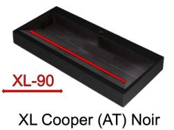 Wash Basins width 200 cm resin Cooper XL  Black