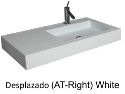 Wash Basins width 190 cm resin Desplazado white