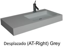 Wash Basins width 200 cm resin Desplazado grey