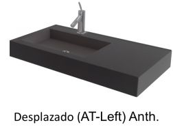 Wash Basins width 200 cm resin Desplazado Anthracite