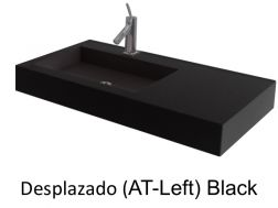 Wash Basins width 200 cm resin Desplazado black