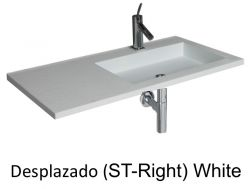 Wash Basins width 150 cm resin Desplazado white
