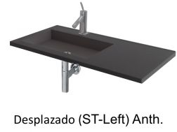 Wash Basins width 150 cm resin Desplazado Anthracite