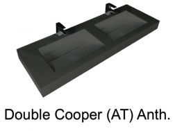 double Wash Basins. 170 cm resin Cooper Lisso Anthracite