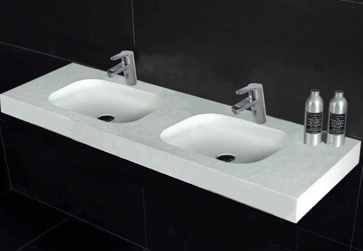 washbasin ur 180 double Wash Basins width 180 cm resin OBA