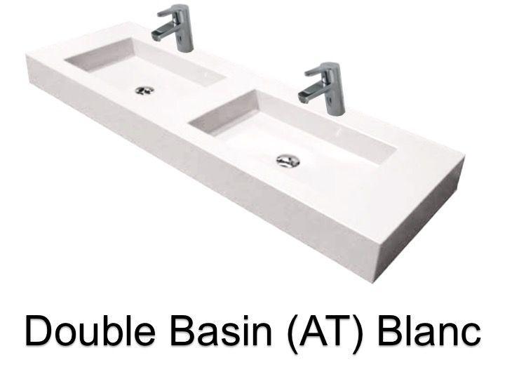 washbasin ur 140 double Wash Basins width 140 cm resin