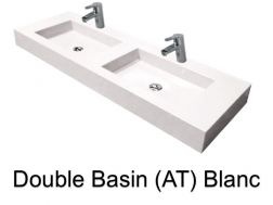 double Wash Basins. width 140 cm resin Still Lisso white