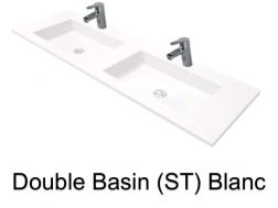 double Wash Basins. width 200 cm resin Still Lisso white