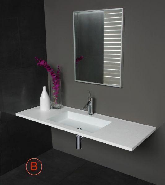 washbasin largeur 100 corian vanity top guy 100 x 35 cm. Black Bedroom Furniture Sets. Home Design Ideas