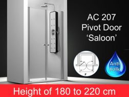 Shower door pivotally model saloon 190 cm. height 180-220 cm, AC207