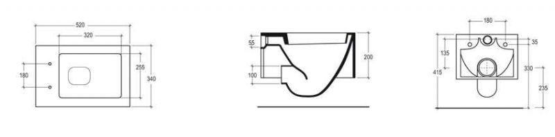 Bathroom furniture sink washbasins wc cuvette design - Wc suspendu dimension ...