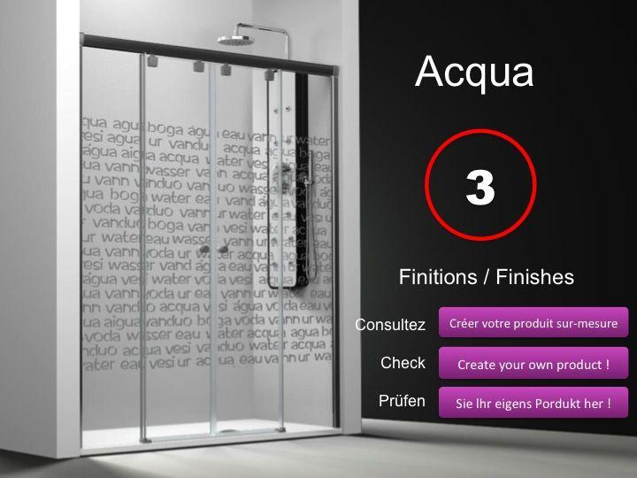 Shower Door 4 Panels, 2 Central Sliding Doors, 135 Cm, Decor Serigraphy,