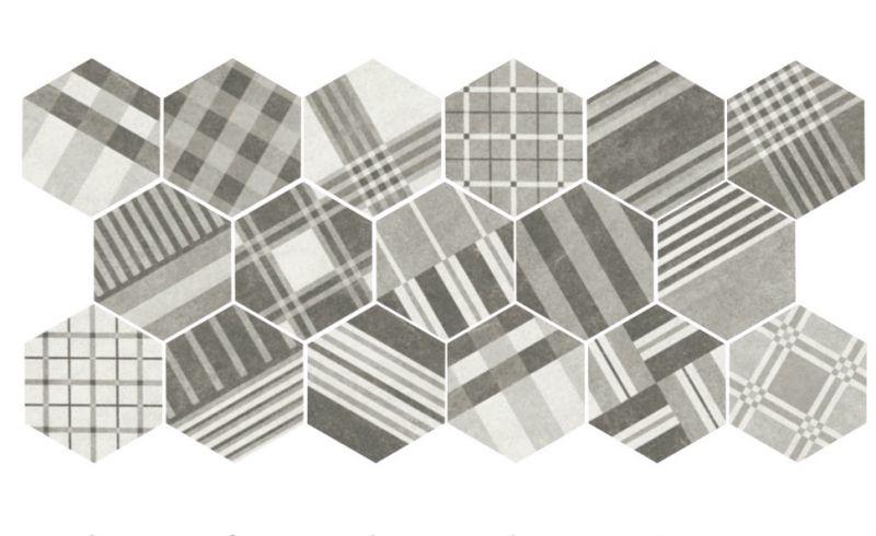 art deco 2 cement geo grey 175x20 floor tile hexagonal imitation cement