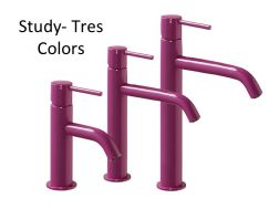 Single lever washbasin mixer, Study Colors Tres,purple