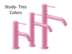 Single lever washbasin mixer, Study Colors Tres, pink
