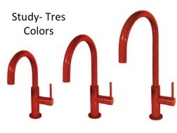 Single lever washbasin mixer, Study Colors Tres, red