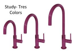 Single lever washbasin mixer, Study Colors Tres, purple