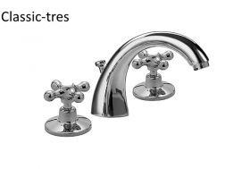 Wash-basin mixer: old brass finish, and automatic drain
