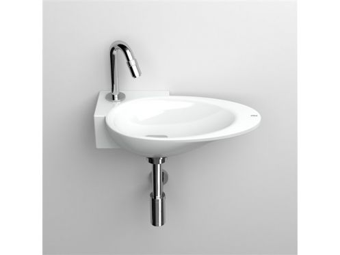 Washbasin, 25 x 36 cm, white ceramic, tap on the left - FIRST CLOU