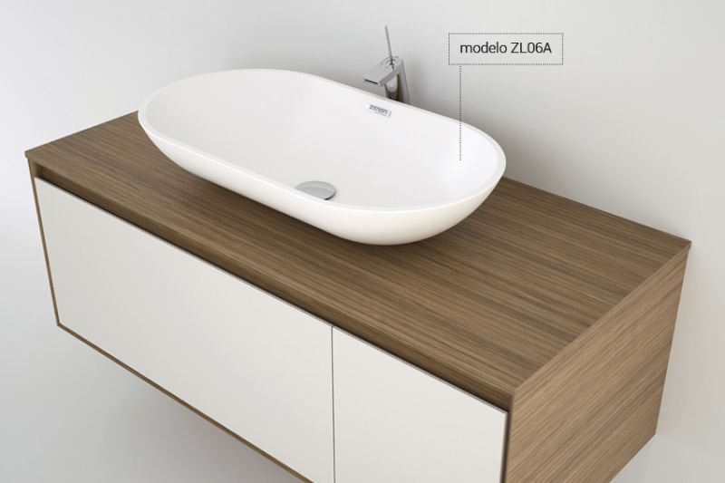 washbasin Corian (Type) - Washbasin 25 x 45 cm Resin Solid Surface ...