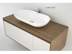 Washbasin 25 x 45 cm Resin Solid Surface, White ZL06A.