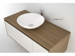 Washbasin 370 / Ø cm Resin Solid Surface, White ZL011A.