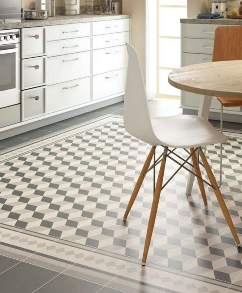 Carrelage sol salle de bain cuisine et terrasse c - Carrelage imitation carreau ciment ...
