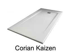 Shower tray Corian style Resin Solid Surface, 140 cm, White KAIZEN.