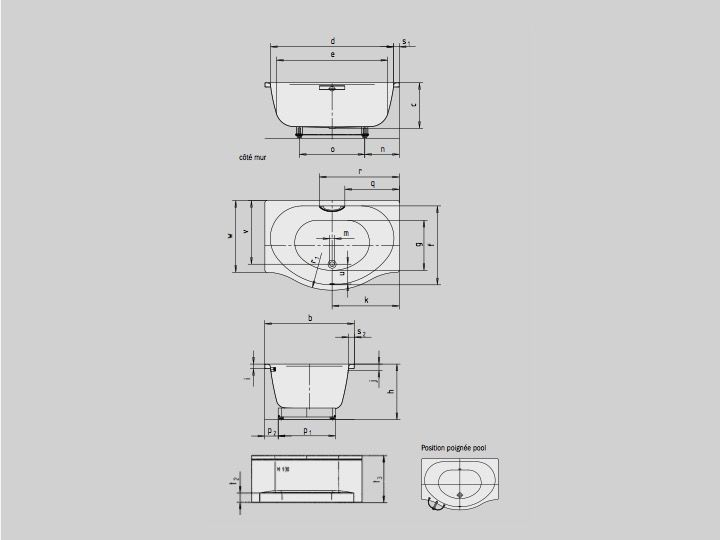 Bathroom Furniture Sink Washbasins Bathtubs Baignoire 150 X 100