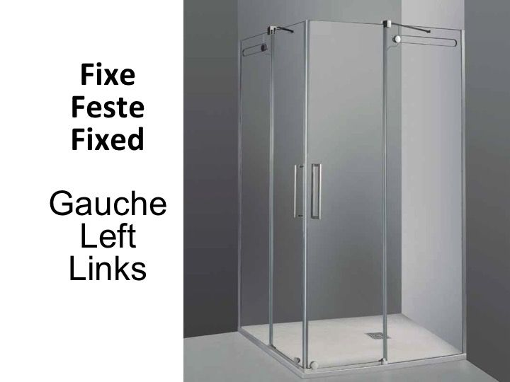 Width 70 length 70-150 cm with sliding shower door 2 fixed 2  sc 1 st  shower-trays-and-bathroom.com & Shower enclosures Accessoires - Width 70 length 70-150 cm with ... pezcame.com