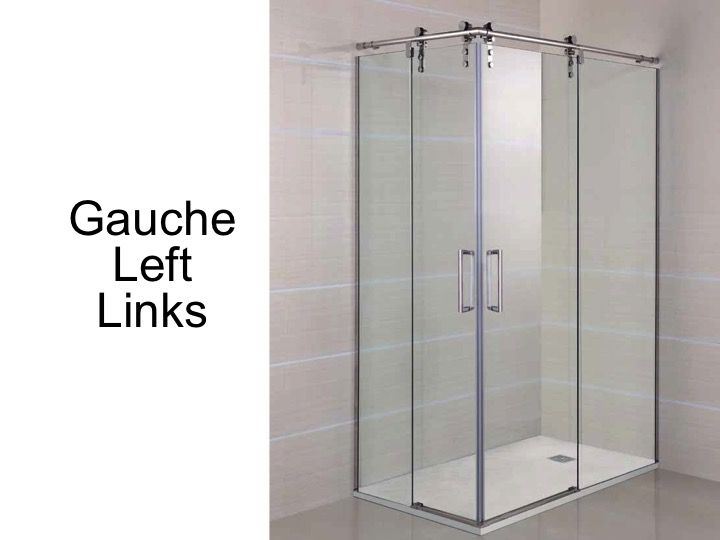 Width 70 length 70-140 cm with sliding shower door fixed in corner entry  sc 1 st  Coulommiers tiles & Shower enclosures Accessoires - Width 70 length 70-140 cm with ...