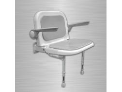 Wide padded seat with backrest and armrests - Bathroom Mobility Aids