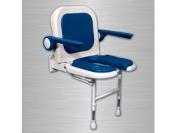 Shower seat with padded backrest and armrest U Series 4000 - Bathroom Mobility Aids