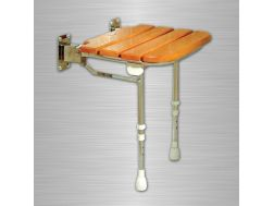 Seat wooden slatted rubber - Bathroom Mobility Aids