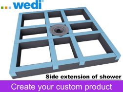 Shower tray for tiled shower tray -  Wedi Fundo Primo Easy Set