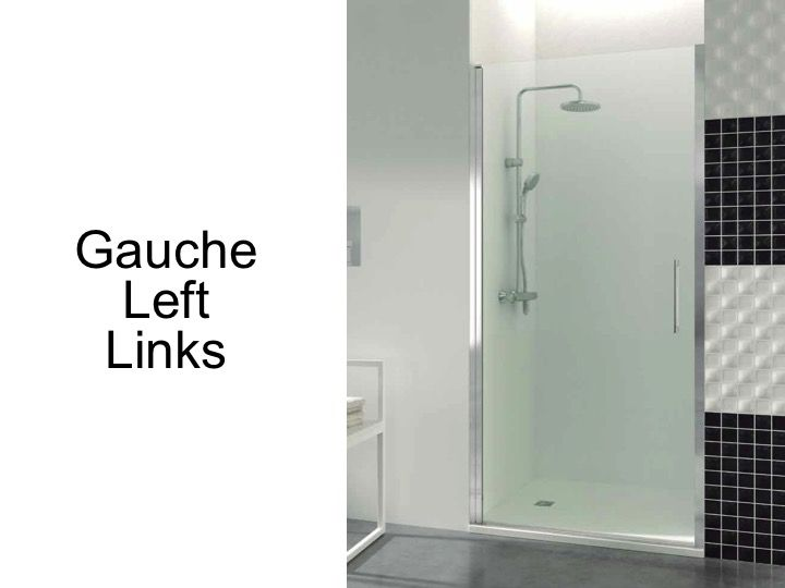 shower door with wall magnet closure width cm swing height