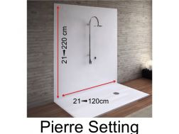 Wall panels resin color shower trays, Pierre finish