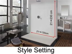 Wall panels resin color shower trays, style finish