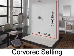 Wall panels resin color shower trays, corvorec finish