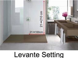Wall panels resin color shower trays, Levante  finish