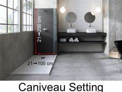 Wall panels resin color shower trays, caniveau finish