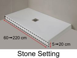 Baseboard, resin base color of shower trays, finishing Stone