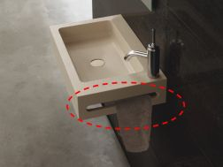 Mechanized door towel, washbasin plan to measure.