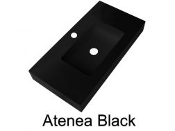 Wash Basins width 200 cm resin Atenea black